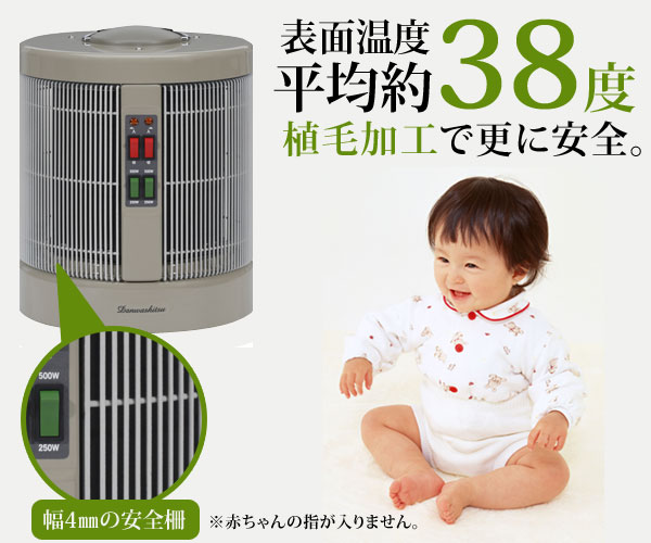 表面温度平均38度で安全