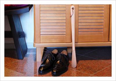 ドイツ製ウッドシューホーン(ロング靴べら)