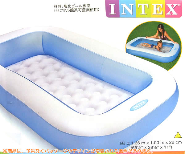 Wich rakuten global market manufactured by intex for Piscina inflable rectangular