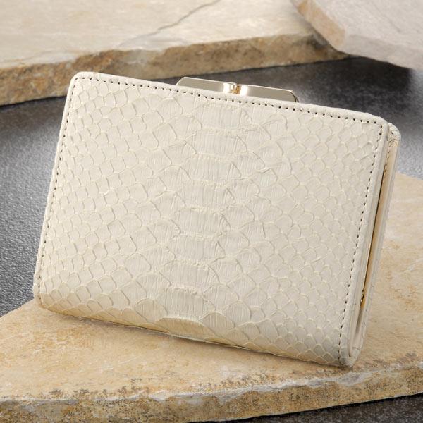 白蛇がま口財布