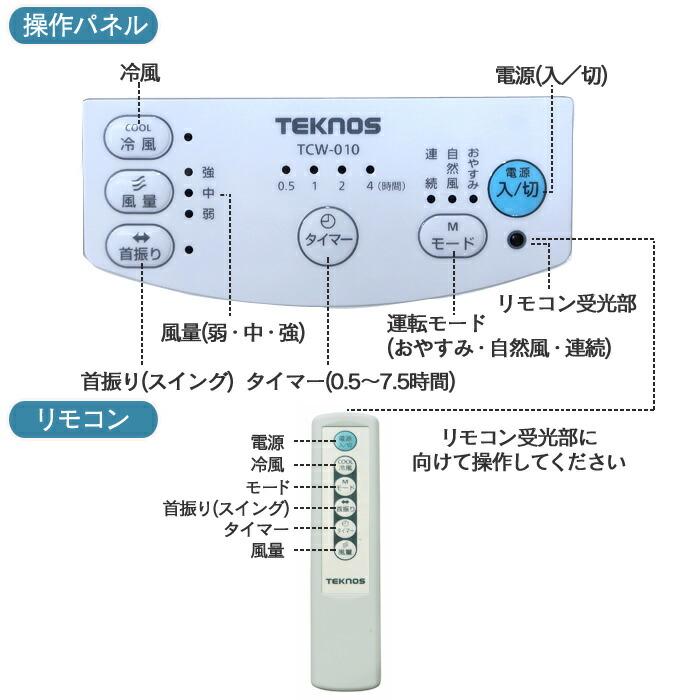 テクノス冷風扇TCW-010