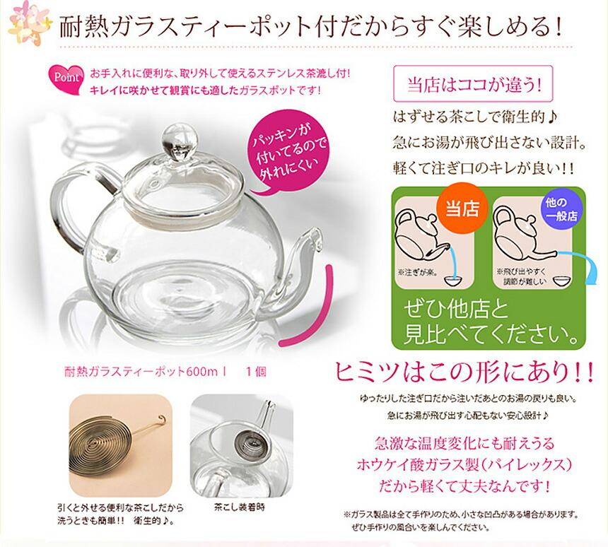 花茶「優雅セット」工芸茶5種 (花畑牧場ラスクプレゼント)