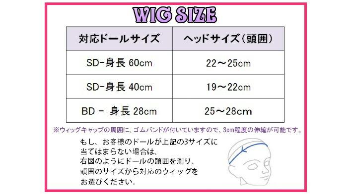 ウィッグサイズ