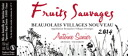 Antoine sunnier and Beaujolais villages Nouveau [2014] ( is reservation sales delivery 11/20/2014 Thursday )