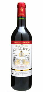 Sélection Sublett Reserve red wine