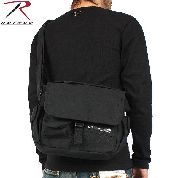 Urban Explorer Black Canvas Shoulder Bag 99