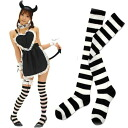 L size ☆ popular boader over knee-high socks