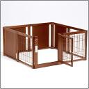 Wooden pet circle F 60XL mesh B indoor dog for (cage circle)