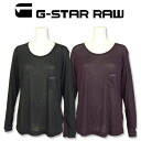 G-Star raw ジースタールーズ long sleeves cut-and-sew LOOSE ROUND NECK T-SHIRT