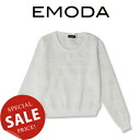 EMODA (Amoda) clear check knit TOP