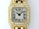 Used brand clock Cartier mini-bread tail K18 genuine diamond Lady's watch Lady's watch