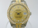 Used brand clock Rolex avian Dole date just pure gold diamond