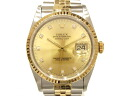Used brand clock Rolex date just 10P diamond Ref: 16233