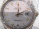 Used brand clock ROLEX Rolex men white ROLEX DATEJUST OYSTER PERPETUAL date just