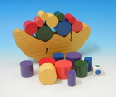 Wooden toys Moon customer balance game blocks 3 years: 3-year-old man: woman