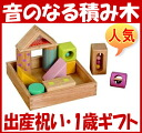 """In fact, I am usable for 0 0 0 0! Toy popularity 1 year old of the sounding popular building block baby gift (boy girl) Tsumiki block recommended woodenness ranking cognitive education tree of the sound of """"a lot of sounds Tsumiki"""" Edo intercha"""