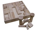 Unpainted building blocks (with a wooden box) tree toys 44 piece tsumiki blocks block wooden toys educational