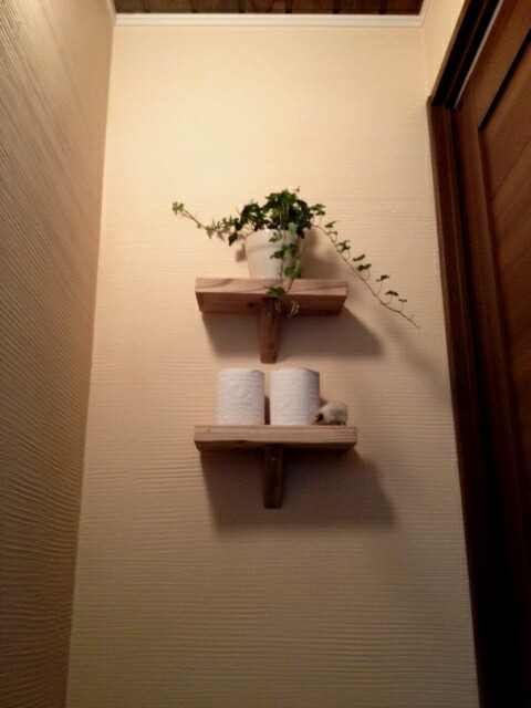 古材壁掛け飾り棚