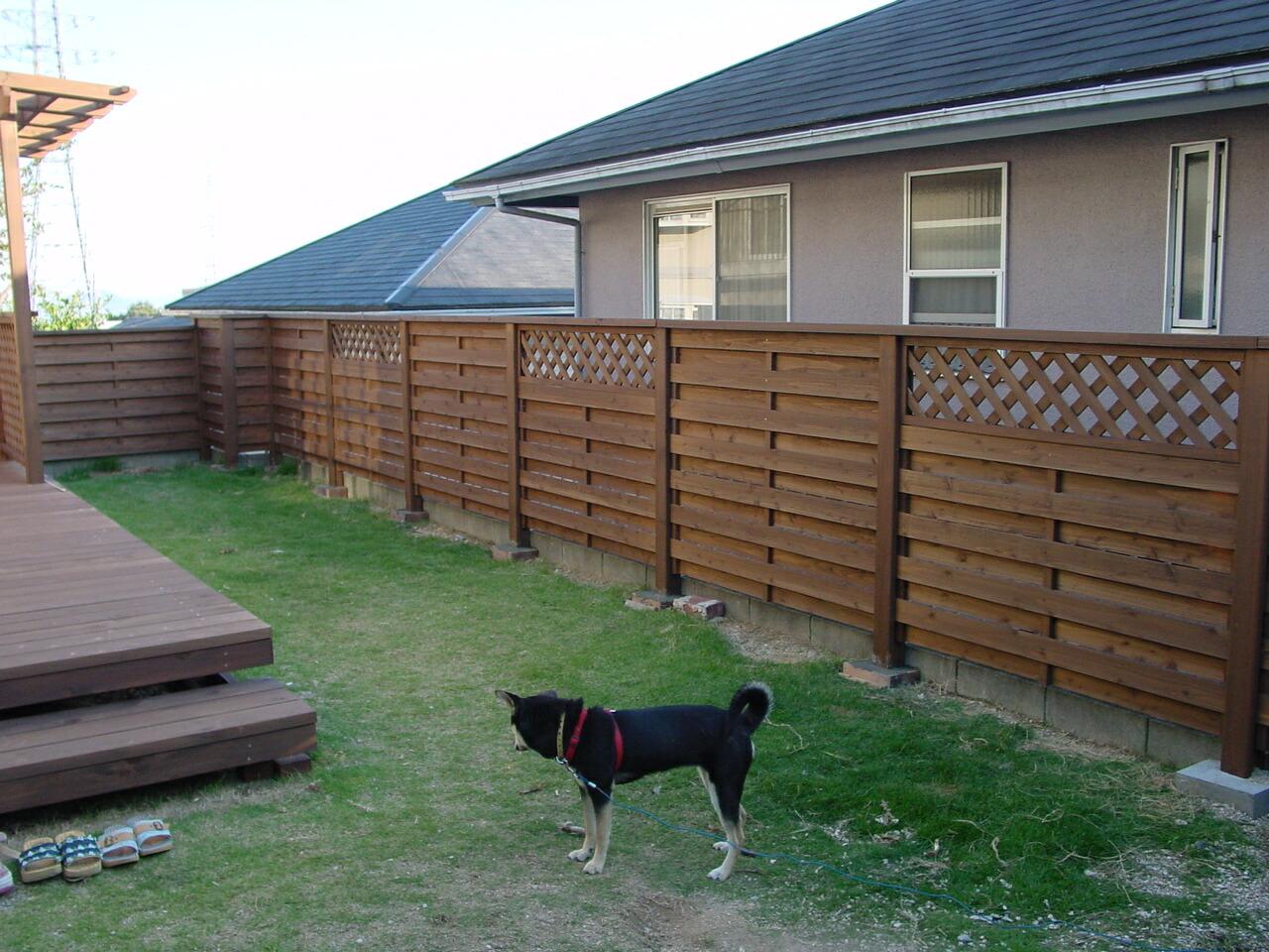 ウッドフェンス使用例