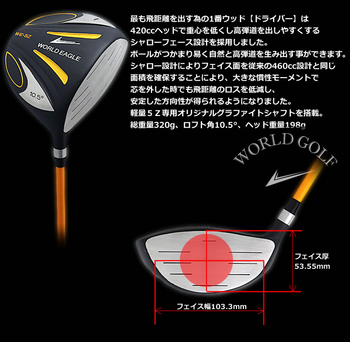 World eagle WORLDEAGLE 5Z driver black rule conformity model
