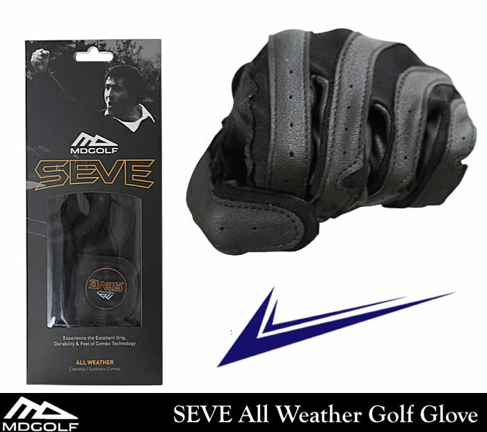 MDGOLF SEVE GOLF GLOVE(MDGOLF ���١�����ե��?��)SEVE All Weather Golf Glove�ʥ֥�å���