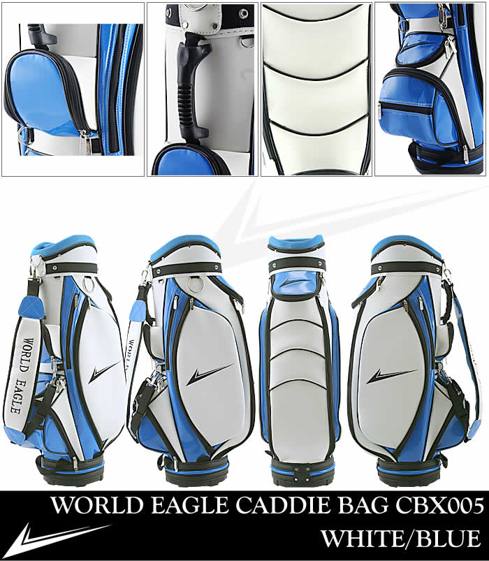 WORLD EAGLE CADDIE BAG CBX005 WHITE/BLUE