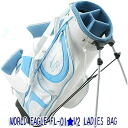 Ladies stand golf bag blue wells wood Pro recommended! World Eagle FL-01 ★ V2 fs3gm