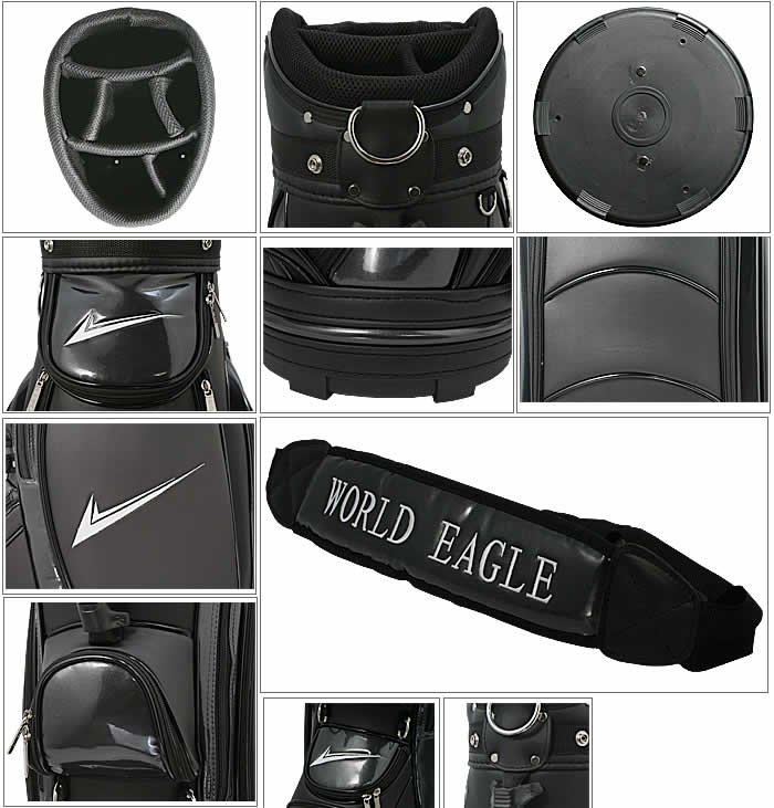 WORLD EAGLE CADDIE BAG CBX001  BLACK