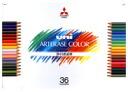 "Mitsubishi pencil ' unicolor ate RADs 36 color set ( UAC36C ) """