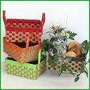 Paper band handicrafts trial kit ♪ Ichimatsu doll basket kit