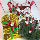 Christmas clips (Pack of 10) tree and Christmas Wreath ornament, upscale gifts, many uses!
