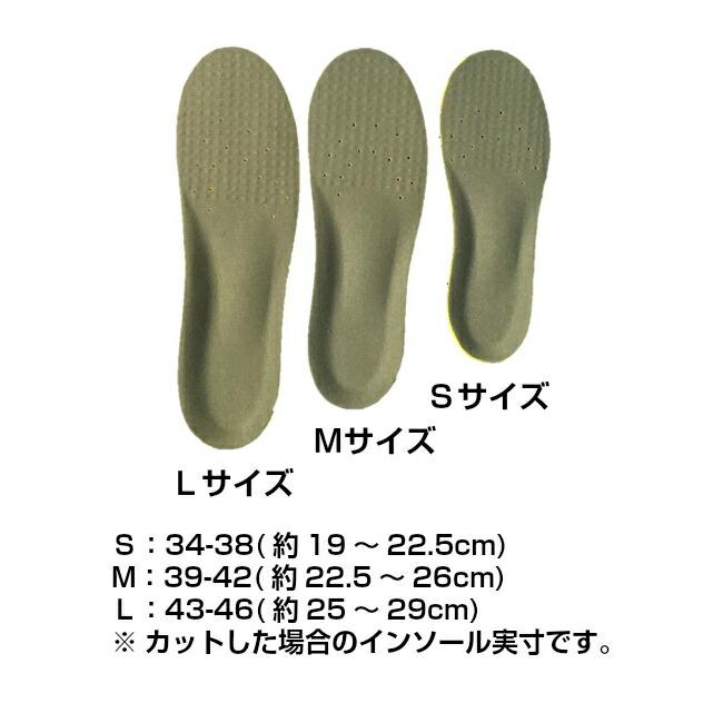 インソール 衝撃吸収 低反発 靴の中敷き 一体型スニーカー サイズ調整 メンズ レディース ジュニア 中敷 送料無料