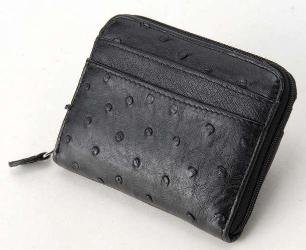 ロダニア 財布 折財布 RODANIA OKN1887 ブラック オーストリッチ