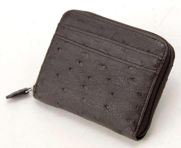 ロダニア 財布 折財布 RODANIA OKN1887 チョコレートブラウン オーストリッチ