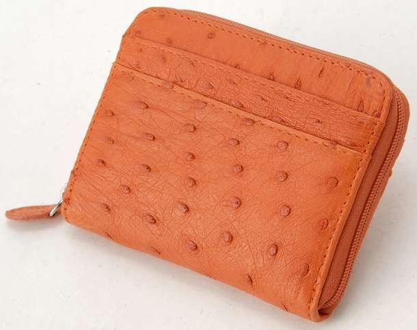 ロダニア 財布 折財布 RODANIA OKN1887 ライトレッド オーストリッチ