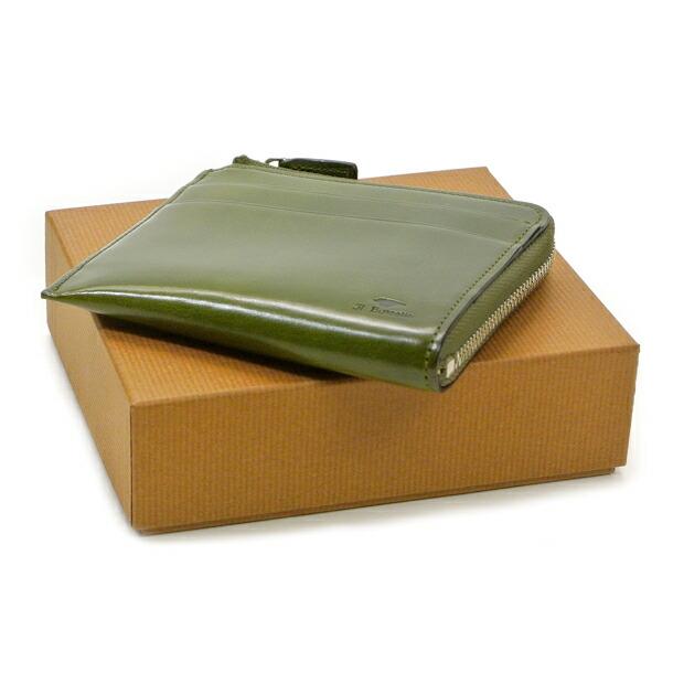 イルブセット 財布 折財布 IL BUSSETTO 7815163 GREEN L字型詳細c画像
