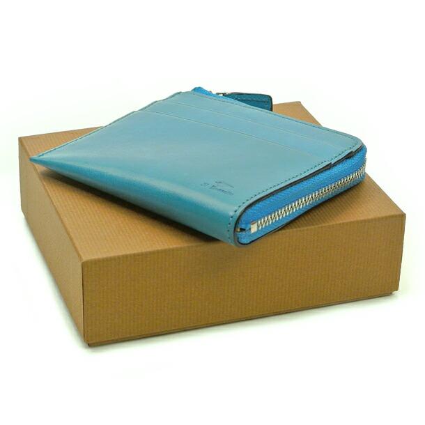 イルブセット 財布 折財布 IL BUSSETTO 7815166 L.BLUE L字型詳細c画像