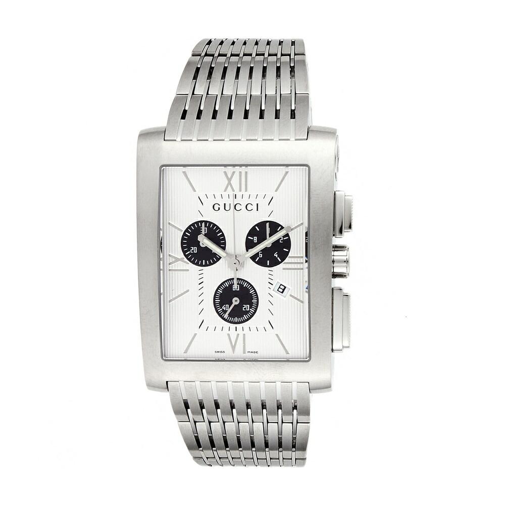 グッチ 時計 メンズ時計 Gメトロ シルバー YA086319 GUCCI