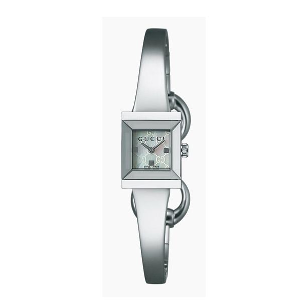 グッチ 時計 レディス時計 Gフレーム ホワイトシェル YA128515 GUCCI