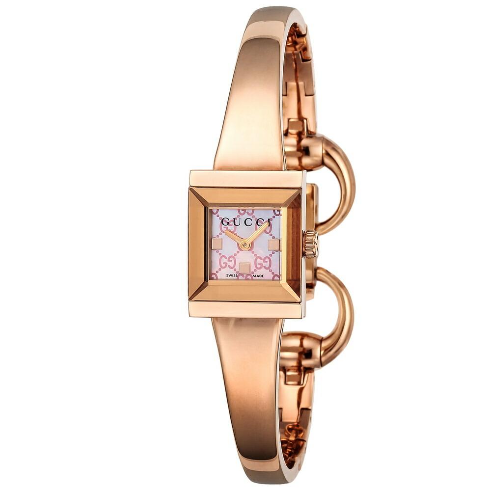 グッチ 時計 レディス時計 Gフレーム ピンクシェル YA128518 GUCCI