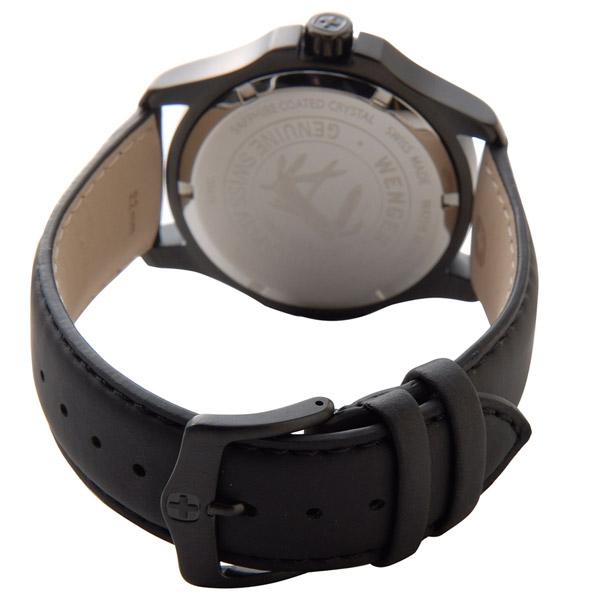 ウェンガー メンズ時計 WENGER WEN70474 ALPINE グリーンカワ グリーン × ブラック詳細b
