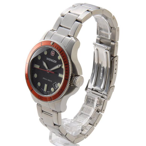 ウェンガー メンズ時計 WENGER WEN72343 バタリオン ORG(M) ブラック × シルバー