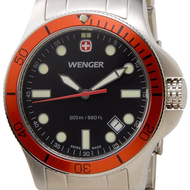 ウェンガー メンズ時計 WENGER WEN72343 バタリオン ORG(M) ブラック × シルバー詳細a