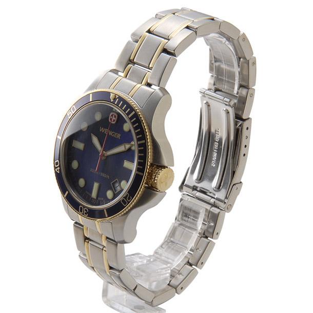 ウェンガー メンズ時計 WENGER WEN72346 バタリオン BLンビ(M) ブルー × シルバー