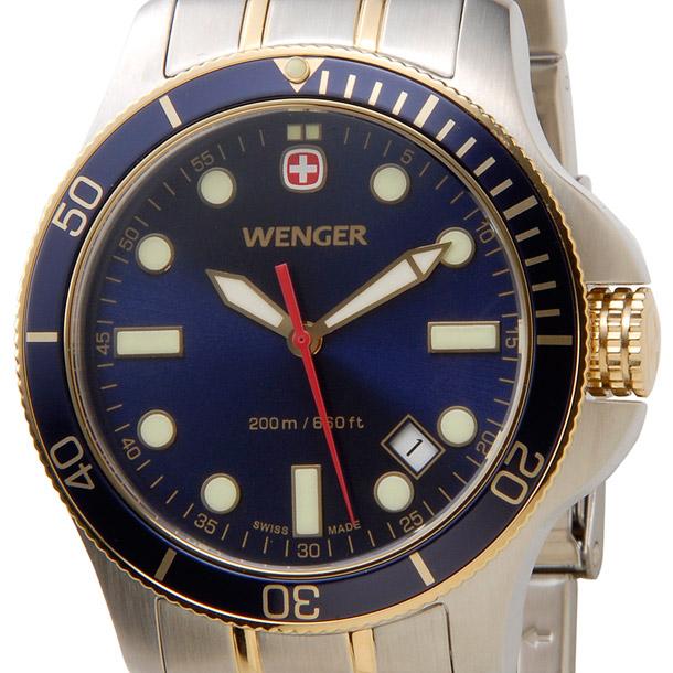 ウェンガー メンズ時計 WENGER WEN72346 バタリオン BLンビ(M) ブルー × シルバー詳細a