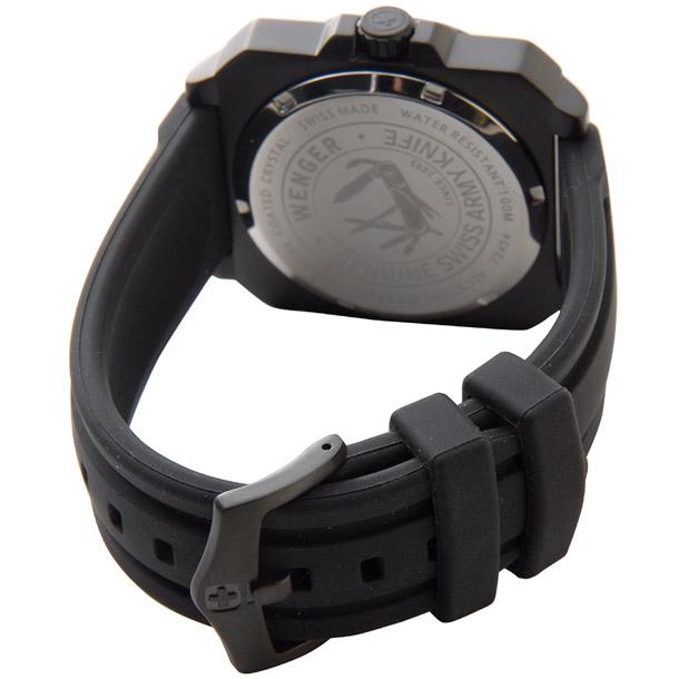 ウェンガー メンズ時計 WENGER WEN72424 エアログラフコクピットPU ブラック × ブラック詳細b