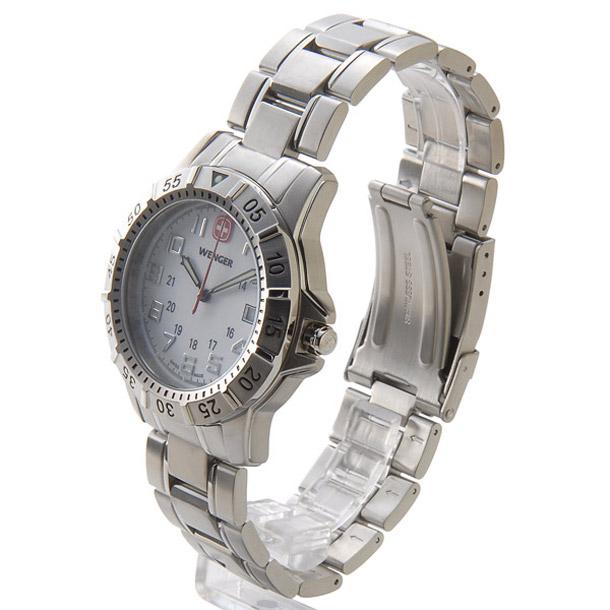 ウェンガー メンズ時計 WENGER WEN72617 マウンテイナー SS WHT ホワイト × シルバー