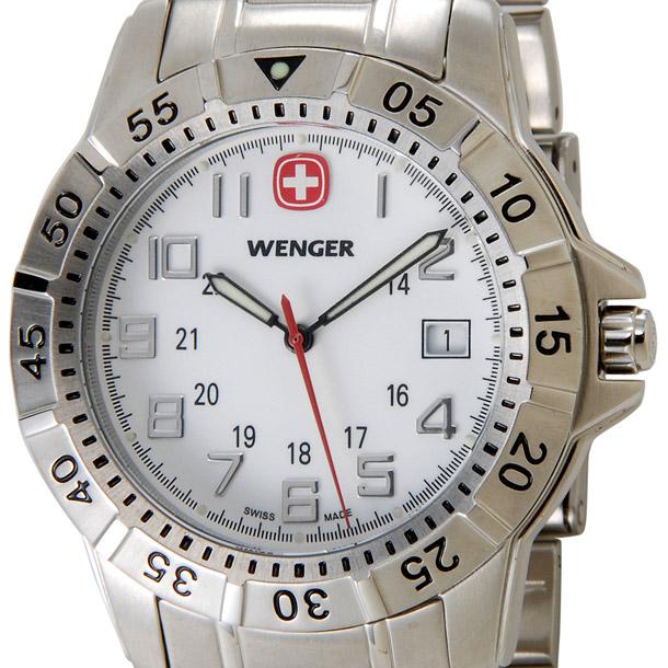 ウェンガー メンズ時計 WENGER WEN72617 マウンテイナー SS WHT ホワイト × シルバー詳細a