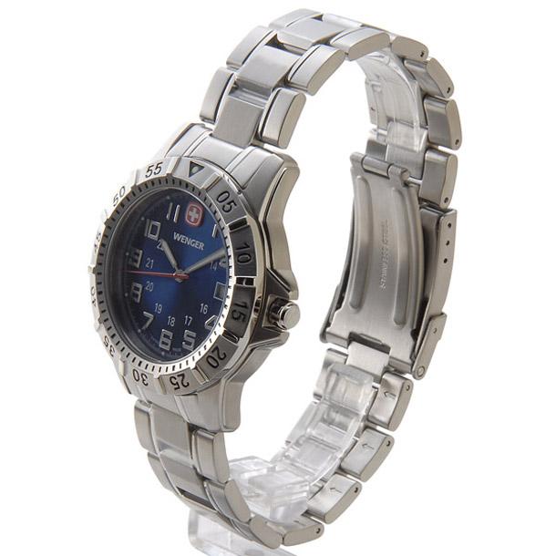 ウェンガー メンズ時計 WENGER WEN72618 マウンテイナー SS BLUE ブルー × シルバー