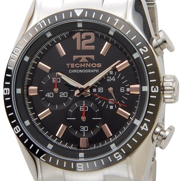 テクノス メンズ時計 TECHNOS クロノグラフ T1019TH